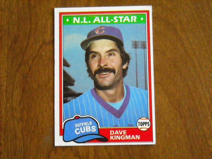 Dave Kingman N. L. All Star Cubs Card No. 450 (BC450) 1981 Topps Baseball Card - for sale at Wenzel Thrifty Nickel ecrater store