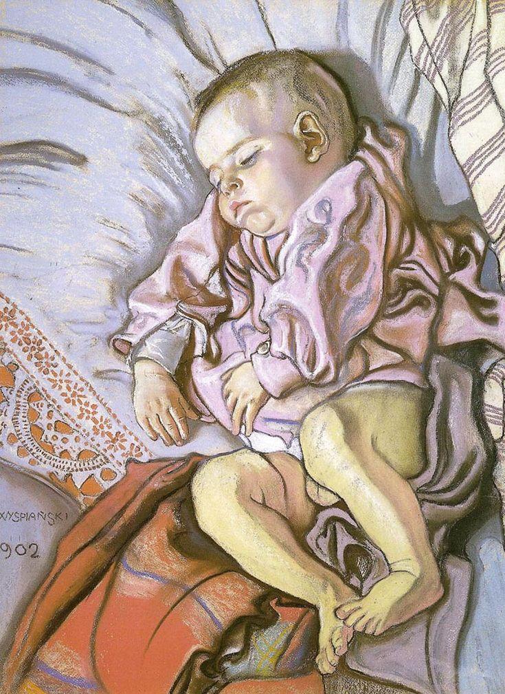 Stanisław Wyspiański: Sleeping Stas, the Artist's Son