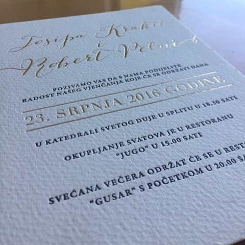 Exquisite wedding invitation printed on thick white cotton paper using Letterpress and Gold Foil printing, offering a timeless elegance #weddinginvitations #weddingstationery #foil #foilprint #foiledweddinginvitations #foiledinvitations #letterpress #letterpressinvitations #inspireddesignpreston  #Regram via @inspireddesigninvites