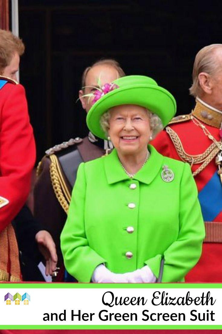 Queen Elizabeth And Her Green Screen Suit