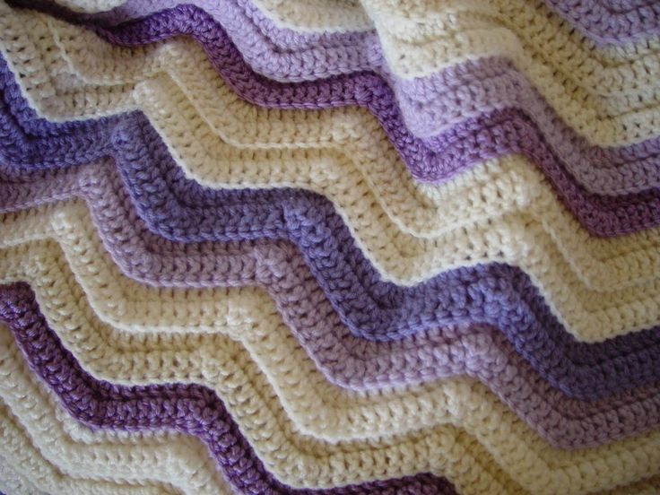 Knit Ripple Afghan Pattern : ripple afghan crochet pattern free Hills and Valleys Baby Afghan - A new lo...
