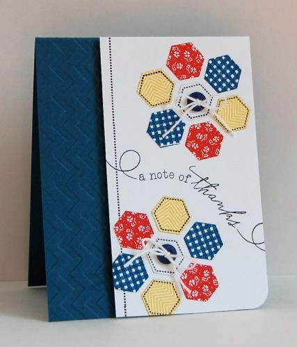 Happy Hexagons by mamamostamps - Cards and Paper Crafts at Splitcoaststampers