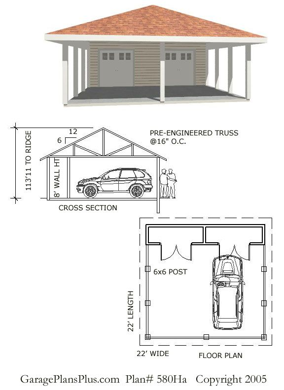 Carport plans this plan has a number of options