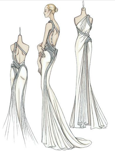 Spring 2009 Atelier Versace: Red Carpet Ruffles and Whorls Photo 1