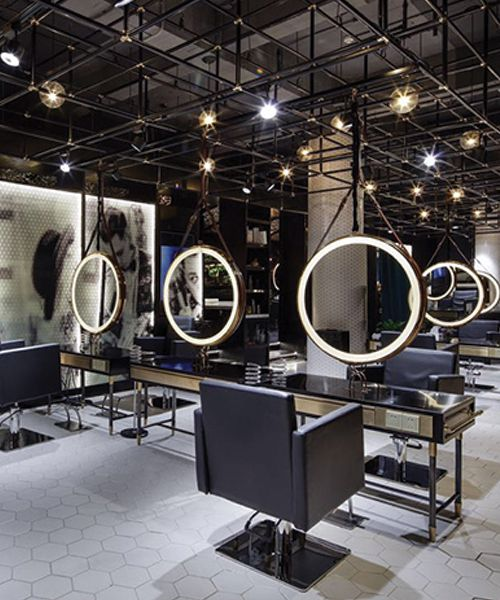 s zona design creates a moody punk inspired interior for barber shop in wuxi - Barbershop Design Ideas