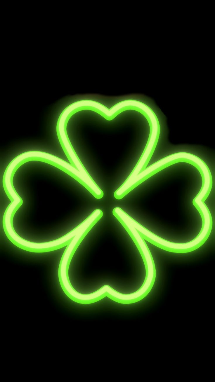 Cute Neon Clover iPhone 6, 6S and 7 Wallpaper. in 2020