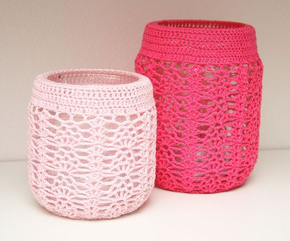 Crochet Patterns Jar Covers : Crocheted Jar Cover - Pattern