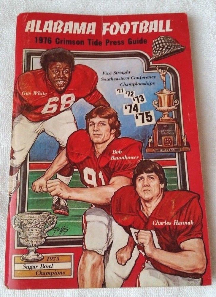 1976 Alabama Football Press Guide VHTF  #AlabamaCrimsonTide #Bama #RollTide