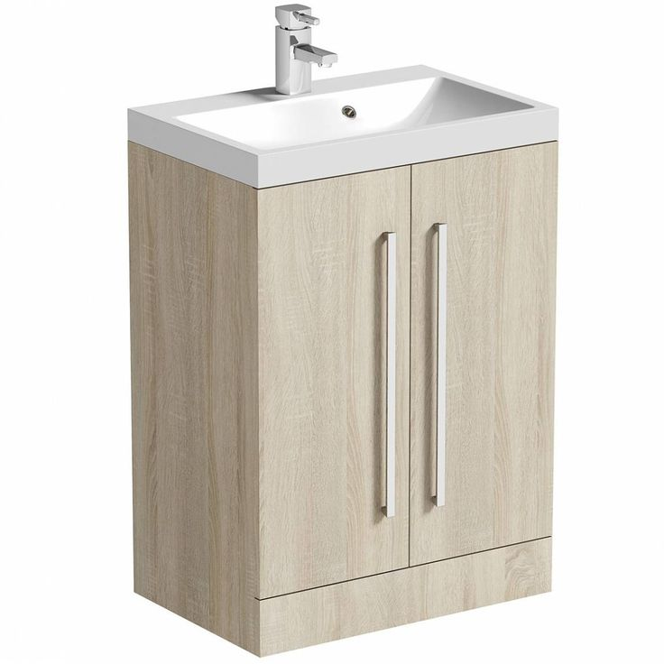 Drift+Sawn+Oak+2+Door+Floor+Mounted+Unit+&+Basin