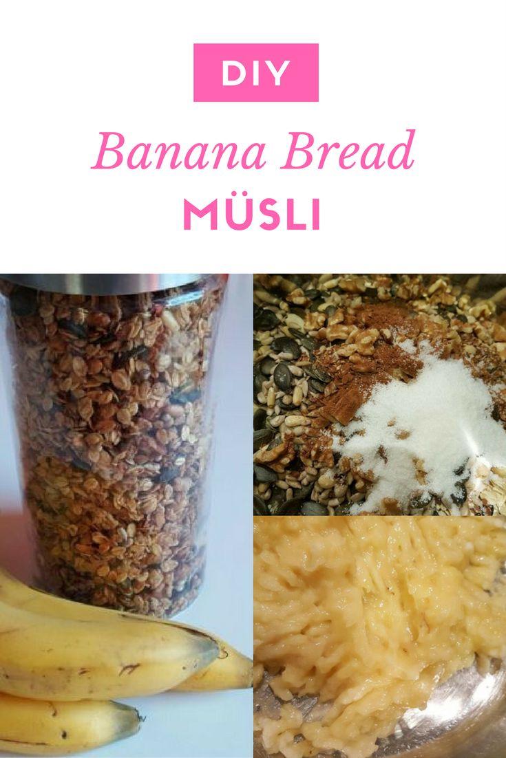 Nachtisch schon zum Frühstück? Mit diesem leckeren Banana Bread Müsli habt ihr einen guten und gesunden Start in den Tag und ein leckeres Frühstück dazu!