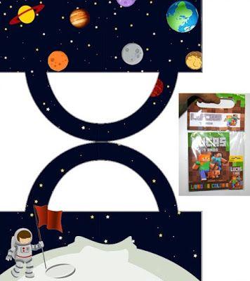 astronaut party printables - 356×400