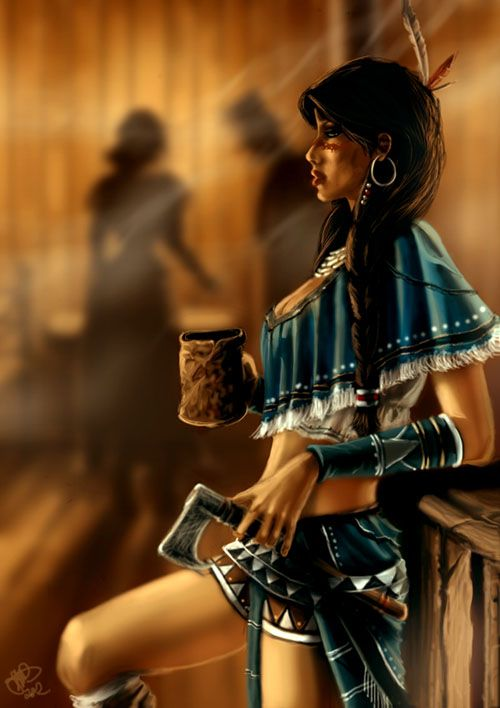 Native American Woman Drawing | ... fantastic Mortal Kombat related art, visit her gallery at deviantART