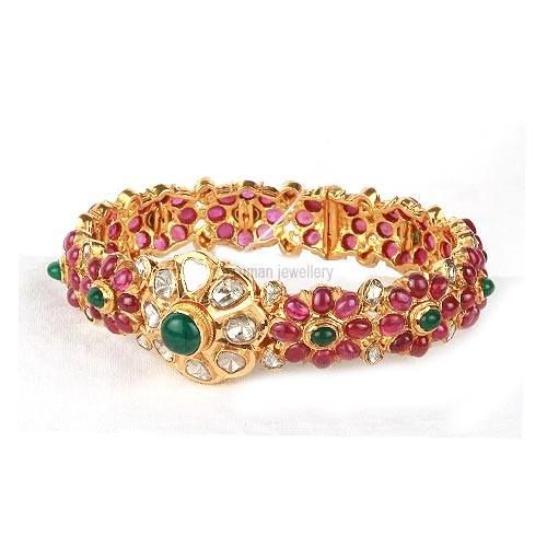 rubies ,emeralds ,uncut diamonds kada