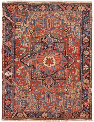 Antique Heriz Style Persian Rug