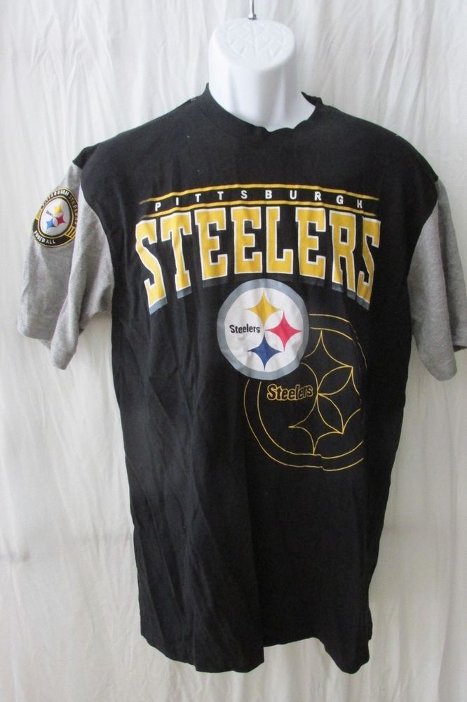 MENS PITTSBURGH STEELERS NFL FOOTBALL COMFY T-SHIRT TOP L LARGE   PittsburghSteelers 7617ff3c0