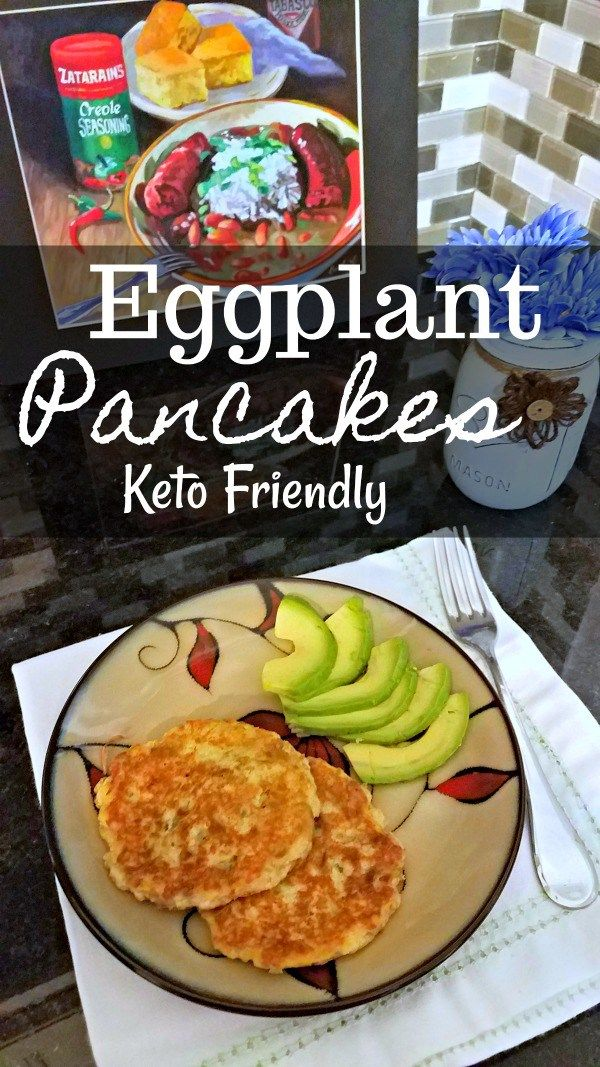 Eggplant Pancakes - Low Carb, Gluten Free, Keto Friendly