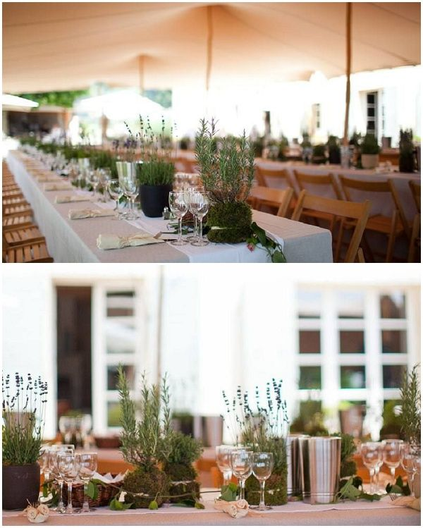 herb wedding decorations with rustic flavour via French Wedding Style maybe use some from your garden fresh or dried