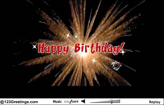 Special Birthday Fireworks Birthday Cards – Live Happy Birthday Cards