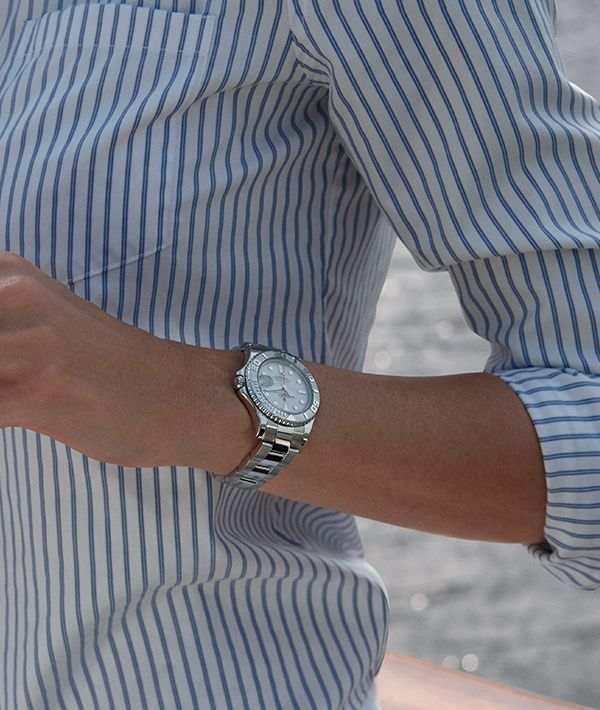 The smaller 35mm Rolex Yacht-Master is the perfect companion for the nautical lifestyle.
