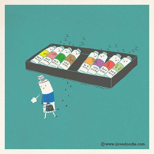 """Monday Blue"" by ilovedoodle"