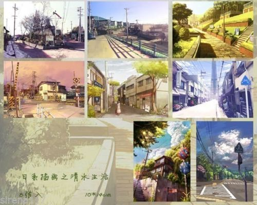 Set-of-8-postcards-Japanese-Life-Illustrations-postcrossing