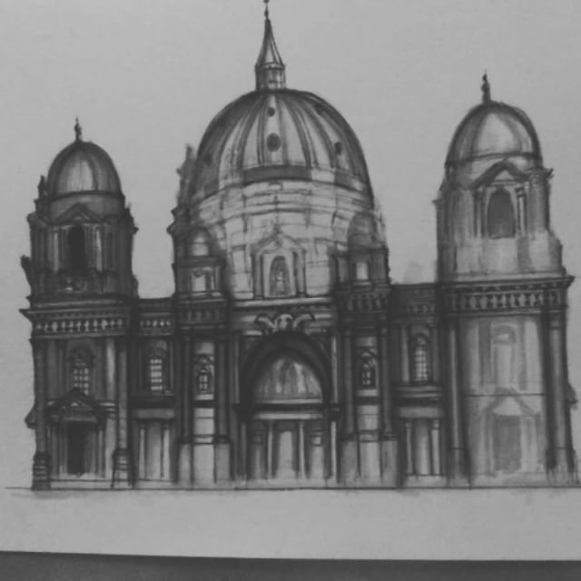Adding details to draft of Berlin Cathedral @ar.sketch