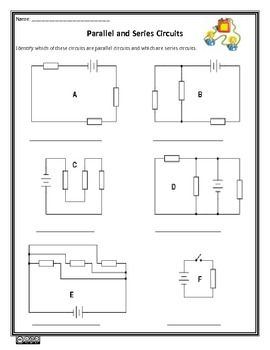 Parallel and Series Circuits Worksheet - On Sale