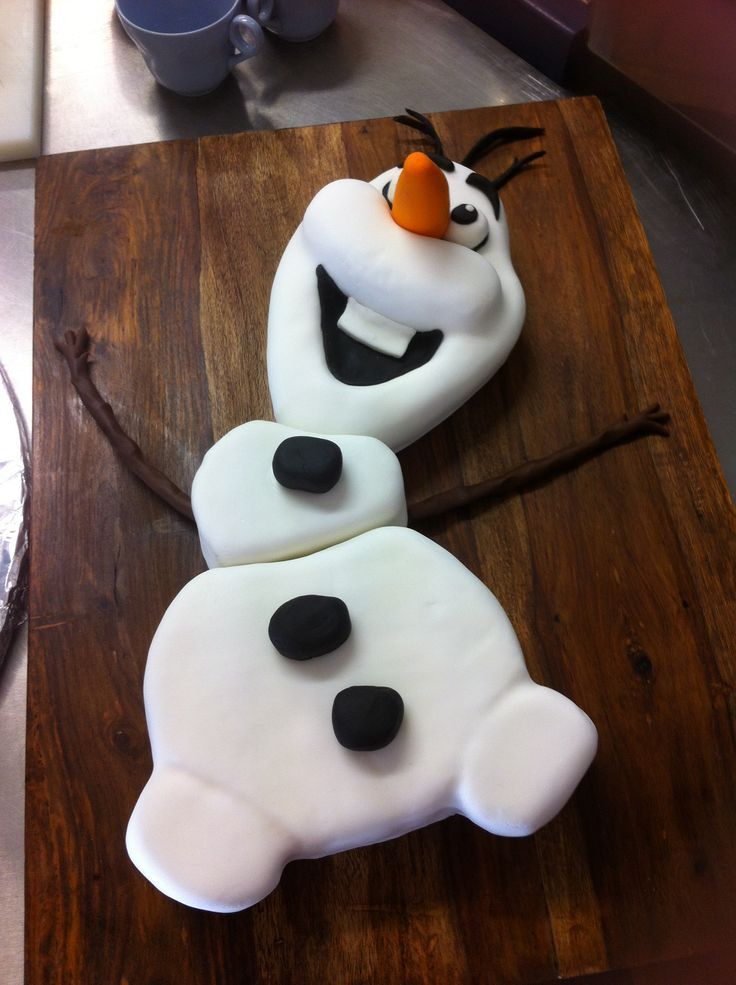 Disney Frozen Cake & Decoration | Olaf #Disney frozen #cake - For all your cake decorating supplies ...