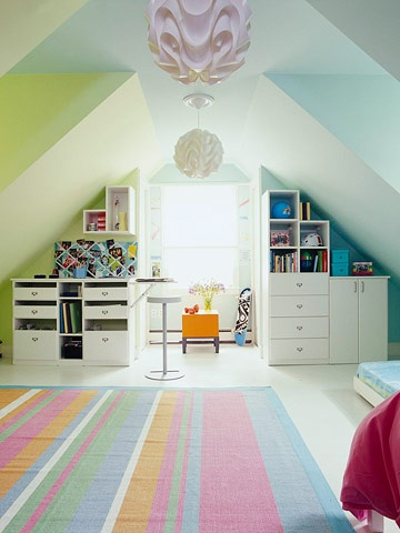 I like the feel of this space... think it's the colours...
