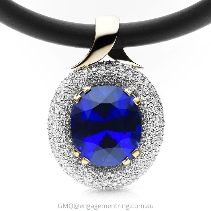 Classic yet contemporary tanzanite and pave diamond jewellery by GMQ@engagementring.com.au