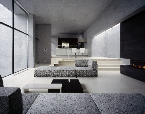17 best images about tadao ando on pinterest concrete for Living room of satoshi