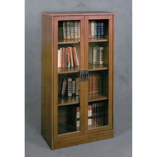 @Overstock - Inspired Cherry Glass Door Bookcase - Display your books and collectibles in the beautiful glass door bookcase. The inspired cherry finish and distinctive door handles will add a touch of elegance to your home or office.    http://www.overstock.com/Home-Garden/Inspired-Cherry-Glass-Door-Bookcase/7708614/product.html?CID=214117  $180.99