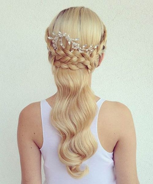Amaingly Well Styled Braided Half Updo Wedding Hair 2015 - 2106