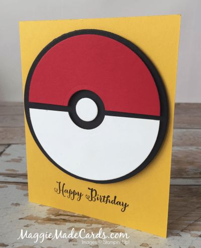 Remembering Your Birthday with Pokémon Ball, Stampin' Up!, Maggie Mata