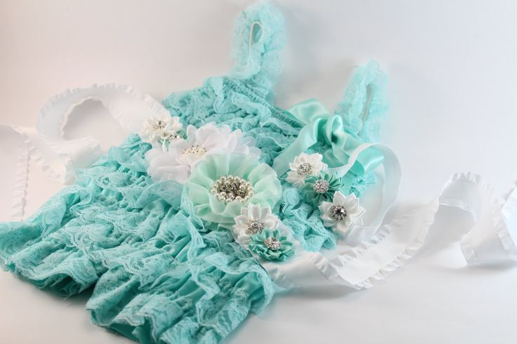 Petti Romper Headband set, Lace Romper Belt Set, Baby Photo Prop, Birthday Outfit, Petti Romper, Lace Petti Romper, Baby Girl Romper Set by mintypinky on Etsy