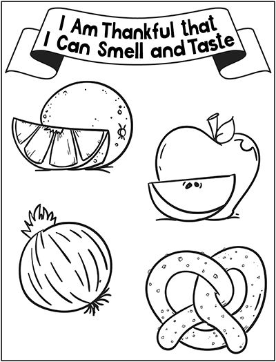 Can am coloring pages ~ Sunbeam Lesson 20 - I Am Thankful that I Can Smell and ...
