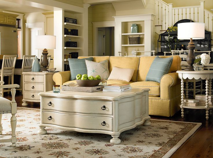 River House Collection  The Family Room Table, Bobbin Side Table, And Chair  Side. Paula Dean FurnitureLiving ...