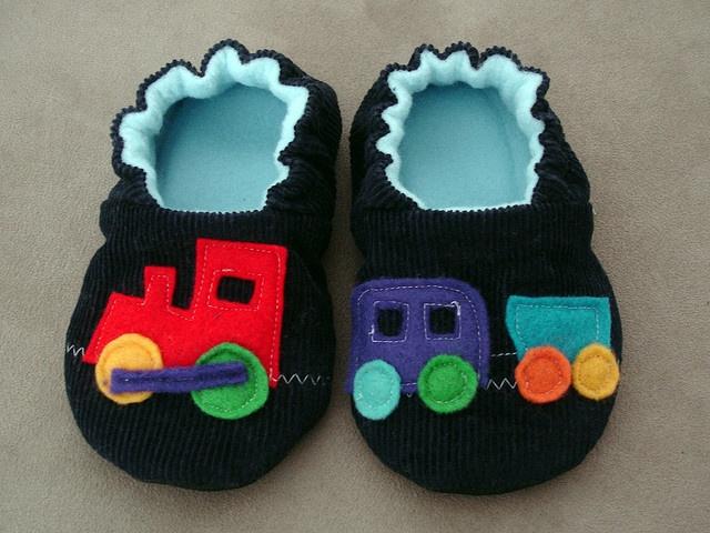 Felt Choo Choo Train Shoes