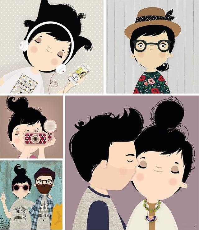 Ilustradores - Luiza Bione (via Bloglovin.com )