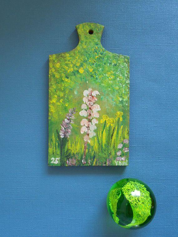 Keuken decoratie kunst aan de muur hand beschilderde snijplank