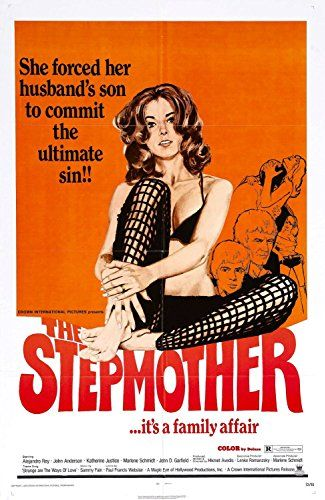 The Stepmother ,1972 USA , by Hikmet L. Avedis . Drama . Margo (Katherine Justice 30-y)  seduces her stepson Steve (Rudy Herrera Jr. 22-y) .