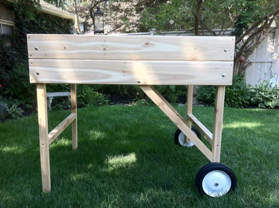 Mobile garden portable raised bed planter by gardentogo on for Portable vegetable garden