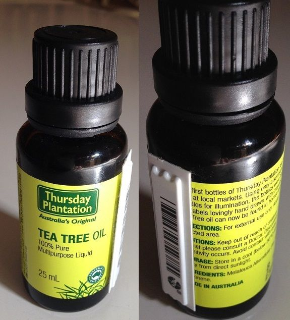 Treat ingrown hairs with Tea Tree Oil