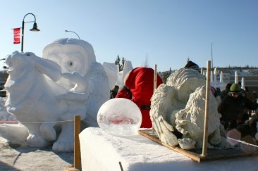 Miniature model for the snow carving