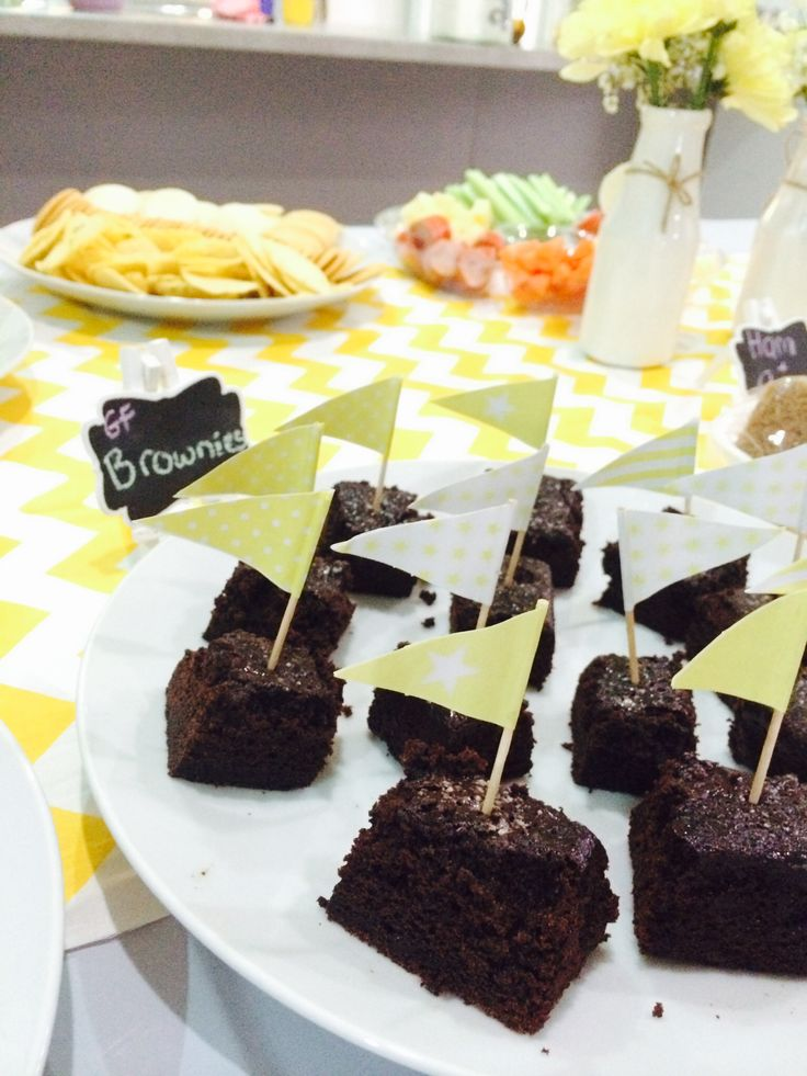 Gluten free brownies with flags