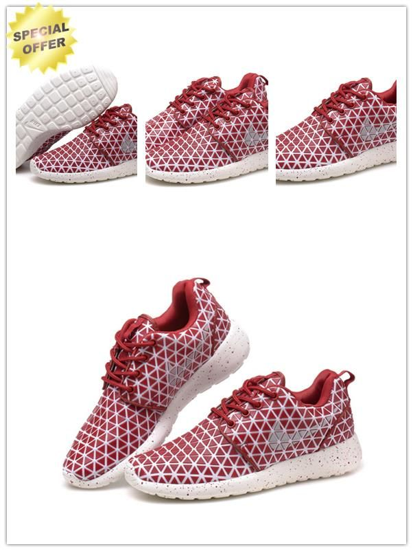 607284-001 Wine Red-White/White Nike Roshe Run Metric