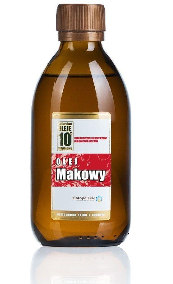 Olej makowy. Zobacz więcej informacji na: http://sklep.zlotopolskie.pl/oleje-zimnota-oczone/olej-makowy.html