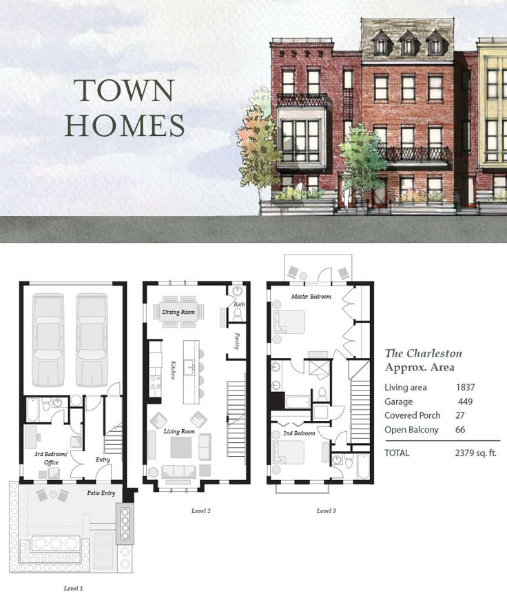 1000 images about townhouse on pinterest gardens for Charleston row house plans