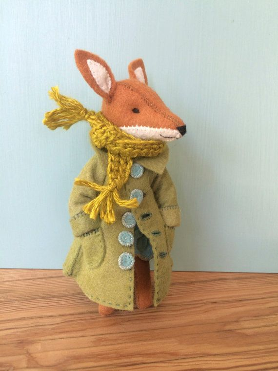 Fox coat pattern by CynthiaTreenStudio on Etsy