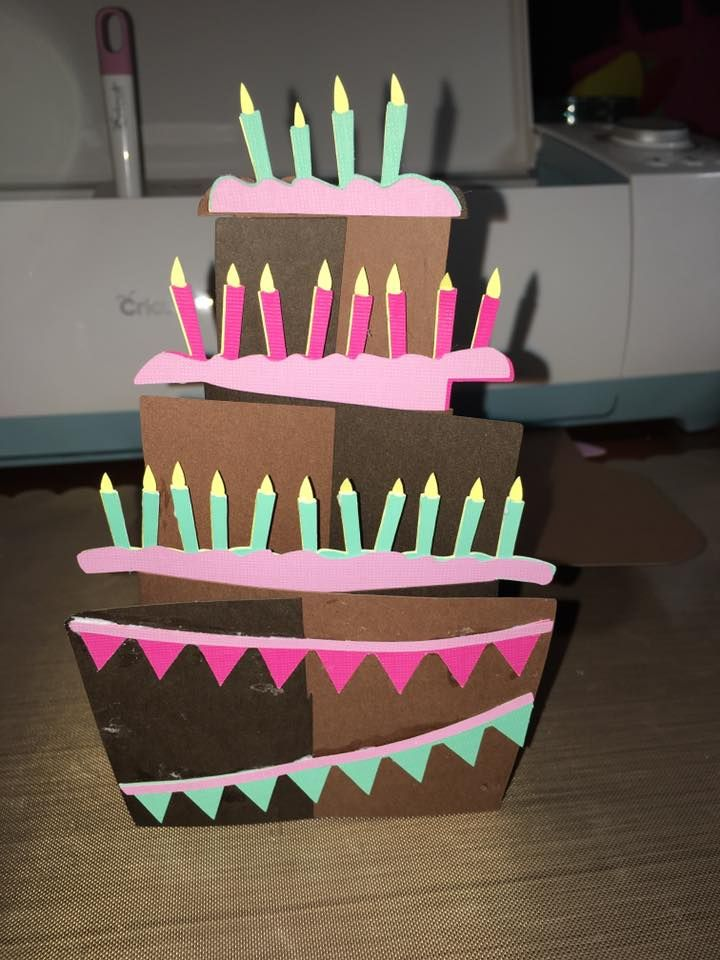 Crazy cute cards cartridge tiered birthday cake